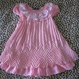 нарядное платье 3-4 года, шифоновое платье 3-4 года, нарядное платье 98-104 см, летнее платье