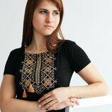 Очень красивая футболка, вышивка крестиком, размер 42-56