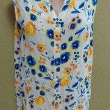 блуза в цветы со стразами,большого размера