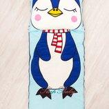 Пингвиненок - слипик, детский спальный мешок, комплект 4 в 1 для сна