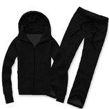 Утеплённый спортивный костюм 1592 Черный