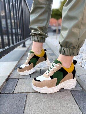 Женские кроссовки сникерсы на платформе