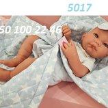 Испанский реборн пупс Кукла-Младенец Nico Manta в голубом 42 см, Antonio Juan 5017, Антонио Хуан