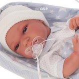 Кукла пупс реборн младенец Baby Tonet Saco в голубом 33 см, Antonio Juan 6019, Антонио Хуан