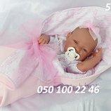 Реборн пупс Кукла младенец Nina Manta Lazo в розовом 42 см, Antonio Juan 5026, Антонио Хуан