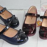 Стильные туфли для школы Размеры 25-30