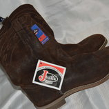 Ботинки сапоги кожа Justin jflex размер 43 44.5, чоботи черевики шкіра