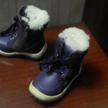 Зимние сапожки для девочки кожаные.