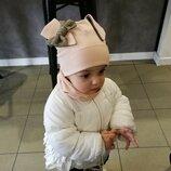 Стильный весенний набор шапка снуд Зайка для девочек