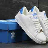 Adidas Stan Smith кроссовки белые с синим/белые с красным 5887/5888