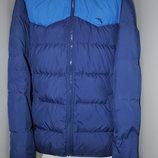 ANTA Мужской зимний теплый пуховик M-L синяя курка натуральный пух