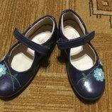 Туфли лаковые Clarks стелька 17см