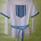 Оригинальная рубаха-вышиванка для мальчика.