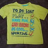 футболка, желтая, 122