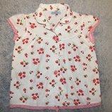 Белая блузка Violet Moon с рисунками маков. На девочку 6 лет. Рост 116 см