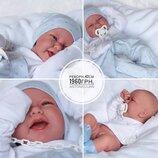 Реборн испанский пупсик Кукла младенец Carlo Карло в голубом 42 см, Antonio Juan 5021, Антонио Хуан