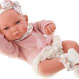 Испанский реборн пупсик Кукла младенец Эмма 42 см, Antonio Juan 5096, Антонио Хуан