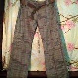 Жен. брюки с поясом. бренд-Fishbane. размер-XL.Ширина пояса -84 см. Длина-108 См.