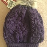 Зимняя шапка Ленне Lenne Rhea цвет 619 тёмно фиолетовая 54р удобная посадка