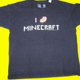 Футболка Minecraft на 9-10 лет,рост 140 см,M&Co