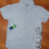 рубашка с коротким рукавом, L.O.G.G., голубая, 128