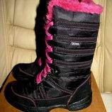 Термосапожки чобітки зимові брендові теплі Cortina DELtex Оригінал Німеччина р.28 стелька 18,5 см