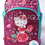 Школьный рюкзак для девочек Hello Kitty Kite малиновый 3473-2