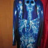 карнавальный костюм скелет.светится.