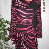 Новая шелковая блуза-туника
