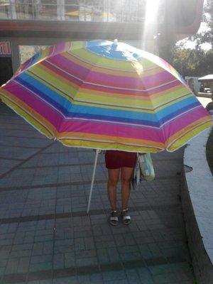 Зонт пляжный 1,5 м, 1,8 м, 2,0 м, 2,2 м, 2,4 м серебро с наклоном ромашка