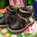 Осенние ботиночки ботинки осень для мальчика 22 размер 2 пары демисезонные ботинки