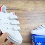 Женские кроссовки Adidas Stan Smith white/red