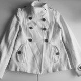 Полупальто куртка Mango suit Италия шерсть Новая коллекция Будь модной благородного белого цвет
