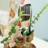 Свадебные бокалы в стиле Greenery Эко свадьба