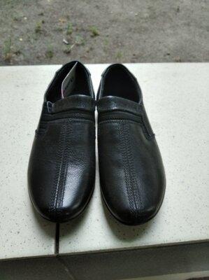 Туфли школьные 18 см, мокасины школьные для мальчика