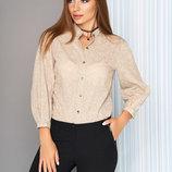Хлопковая блуза-рубашка S-05 женская стильная