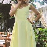 Платье нежного ванильного цвета ткань тиар скл.2Артикул 42523