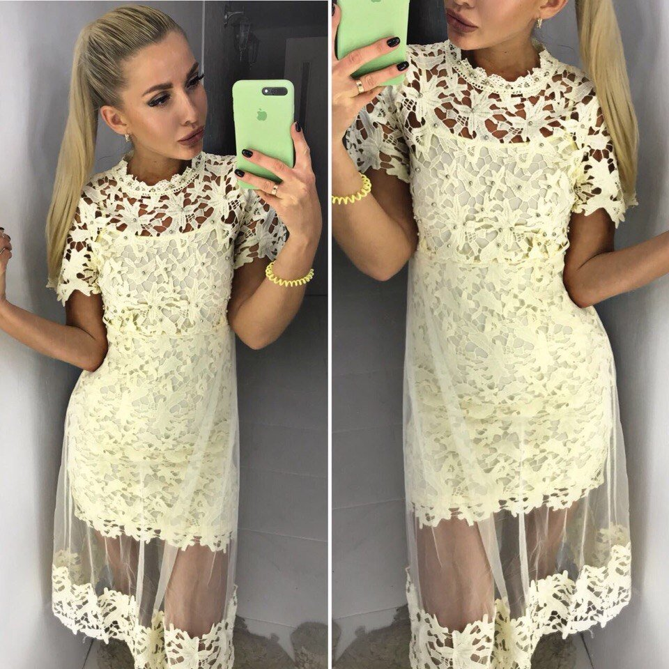 057b2a173a6 Продано  Нарядное платье макраме шифон - повседневные платья в Сумах ...