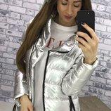 Куртка плотная плащевка ORIGINAL SILVER скл.1 арт.39250 цвет серебро