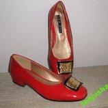 Шикарные Красные Лаковые Туфельки Туфли SHA RUI