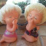 Куклы куколки фигурки пляжницы с помадой Гдр винтаж обмен