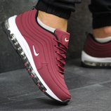 Кроссовки Nike Air Max 97 burgundy, нубук