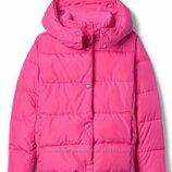 Куртка теплая Gap Fit heather puffer на флисовой подкладке
