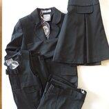 Choupette.Комплект для школьниы черный сарафан,жакет,юбка и брюки.