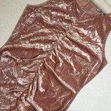 Платье бархатное с драпировкой next 12 размер