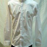 Рубашка мужская ,приталенная Antoni Rossi белая,воротник -стойка M,XL,2XL,3XL