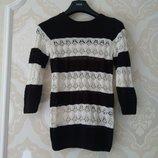 8-10 лет Красивый фирменный ажурный свитер