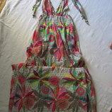 Летние легкое пляжное платье в пол.