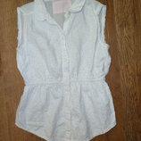 Белая рубашка, белая блузка на 6-7 лет Y.d., хлопок