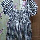 Атласная блуза в полоски Vero Moda р.XL